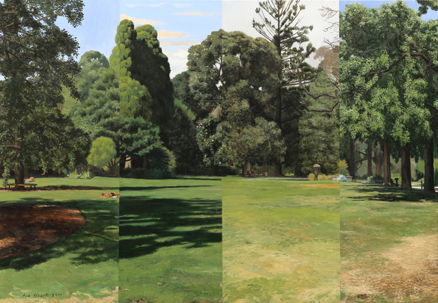 , 'Four Views of the Park (Large),' 2017, Charles Nodrum Gallery