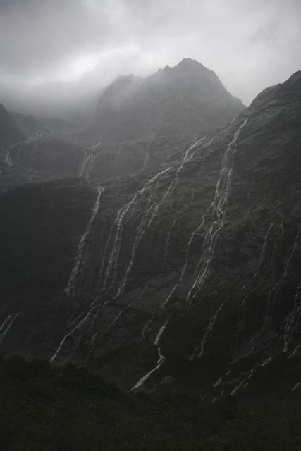 , 'Rain Cascades, Mountains, Fjordland, New Zealand, Autumn,' 2018, Huxley-Parlour