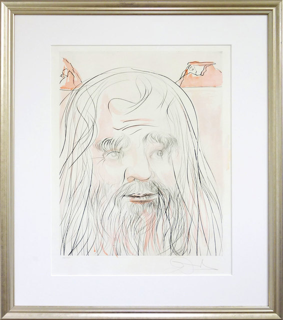 Salvador Dalí, 'Hommage à Leonardo', 1975, Drawing, Collage or other Work on Paper, Etching, aquatint and lithograph on Rives paper, Galerie Kellermann