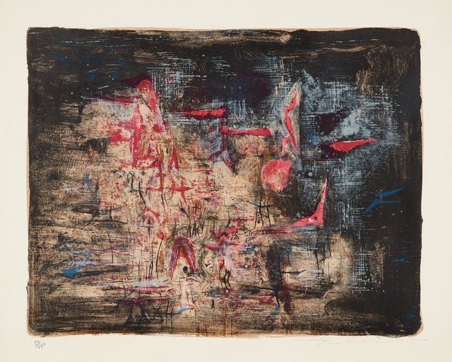 Zao Wou-Ki 趙無極, 'Nocturne', 1955, Print, Lithograph in colors, on Rives BFK paper, with full margins., Phillips