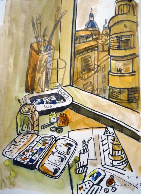 , 'Acuarelas desde la ventana,' 2018, Pepita Lumier