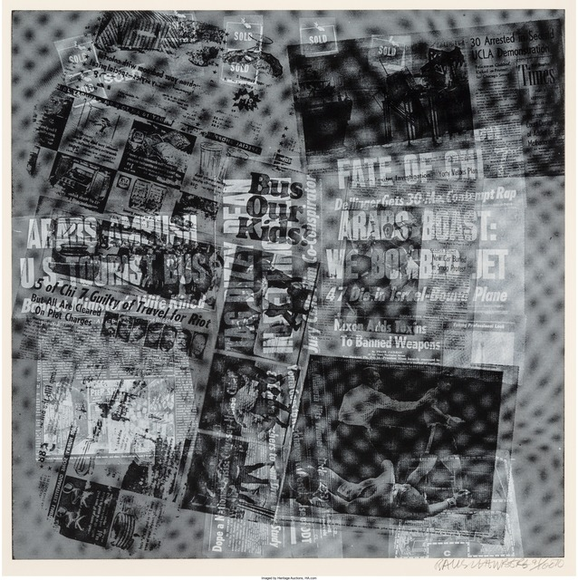 Robert Rauschenberg, 'Surface Series from Currents, Bus for Kids', 1970, Print, Screenprint on wove paper, Heritage Auctions