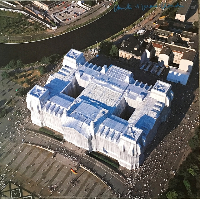 Christo and Jeanne-Claude, 'Wrapped Reichstag, Berlin (Hand Signed)', ca. 1995, Alpha 137 Gallery