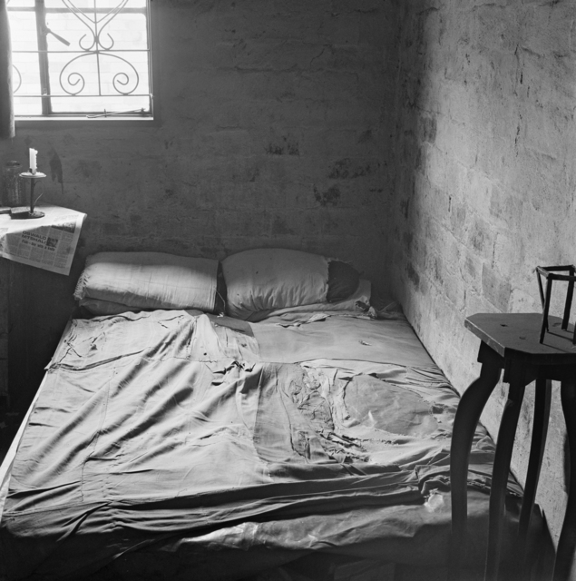 David Goldblatt, 'The bedroom of Mashayela Maseko, traditional healer, 1131 Senoane, Soweto', 1972, Photography, Vintage Silver Gelatin Print, Goodman Gallery