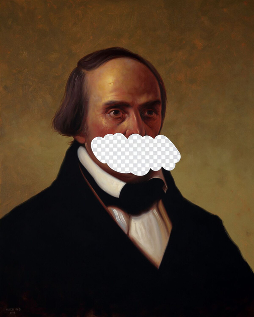 , 'The Truth Is An Arbitrary Thing (Daniel Webster, White House Art Collection Erasure No. 17),' 2018, Modernism Inc.