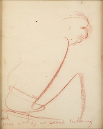 Marilyn Monroe, 'Old man sitting on a bench listening,' c. 1960, Julien's Auctions: Marilyn Monroe