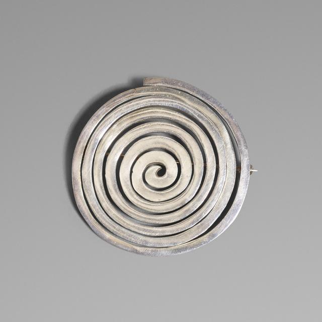 'Sterling silver brooch', c. 1950, Wright
