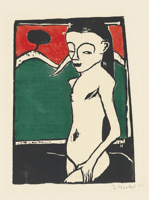 , 'STEHENDES KIND,' 1910, Jörg Maass Kunsthandel