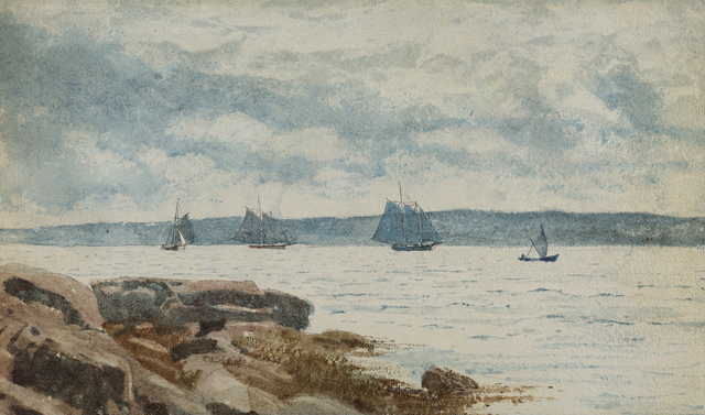 , 'Sailboats at Gloucester,' 1880, Debra Force Fine Art