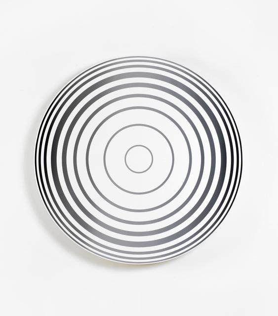 , 'Middle Circle, gradient black grey black,' 2016, KÖNIG GALERIE