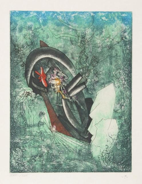 Roberto Matta, 'L'ergofrage (Naufrage du Titanic) from Hom'mere III - L'Ergonaute', 1976-1977, Print, Etching and aquatint on Japon Paper, RoGallery