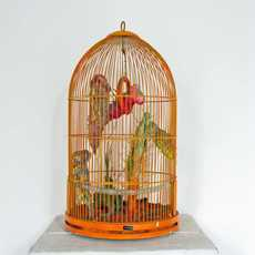 , 'Prehistoric Monster in the cage and People who are looking at it,' 1971, Studio Visconti