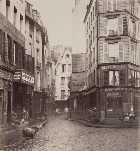 Charles Marville, 'Rue Pirouette, vue prise de la rue Rambuteau, 1er arrondissement, Paris', ca. 1865, Robert Koch Gallery
