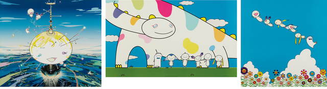 Takashi Murakami, 'Mamu Came from the Sky; Yoshiko and the Creatures came from Planet 66; and Planet 66 Summer Vacation', 2003 and 2004, Phillips