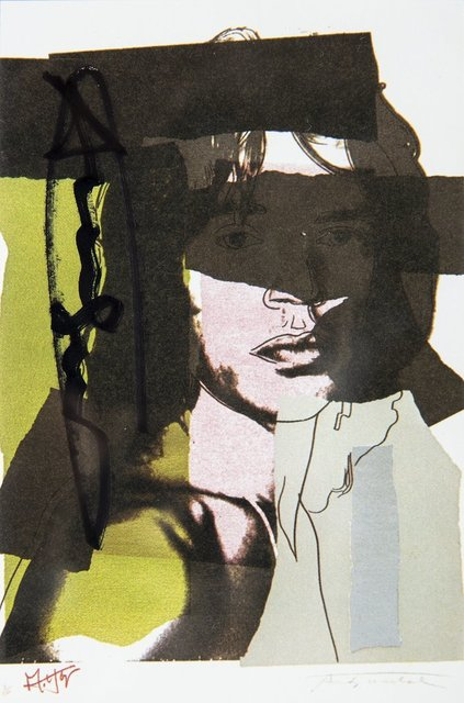 Andy Warhol, 'Andy Warhol  Mick Jagger FS.II.145 Hand Signed Gallery Announcement Invitation', 1970-2000, Drawing, Collage or other Work on Paper, Lithograph, Modern Artifact