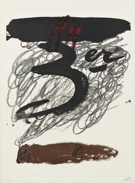 Antoni Tàpies, 'Festival Internacional de Cadaqués', 1972, Print, Lithograph, Seoul Auction