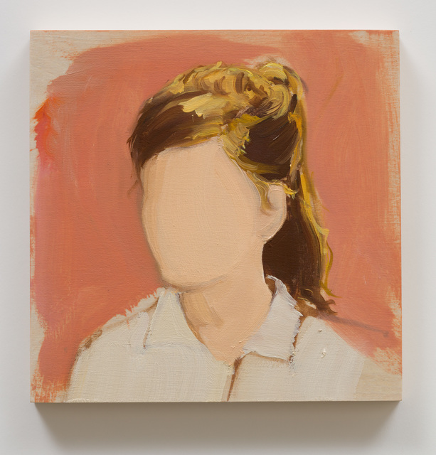 Gideon Rubin, 'Untitled (Girl With Ponytail)', 2018, Painting, Oil on board, Anat Ebgi