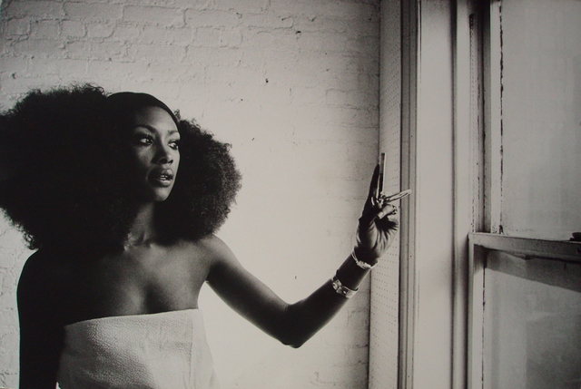 , 'Arlene Hawkins black model with an afro wig, Harlem, NY,,' 1968, Richard Saltoun