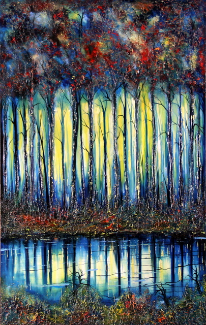 , 'Foresta Con Lago 'Riflessi',' 2018, Bitfactory Gallery