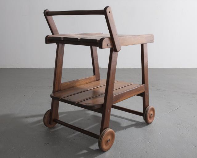 ", '""Tajá"" tea cart in solid wood designed by Sergio Rodrigues, Brazil, circa 1978.,' 1978, R & Company"