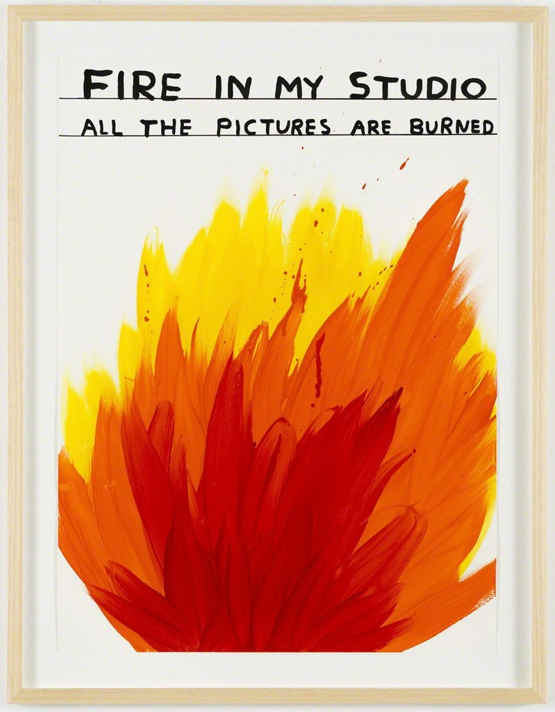 David Shrigley, 'Untitled (Fire in my studio),' 2014, Galleri Nicolai Wallner