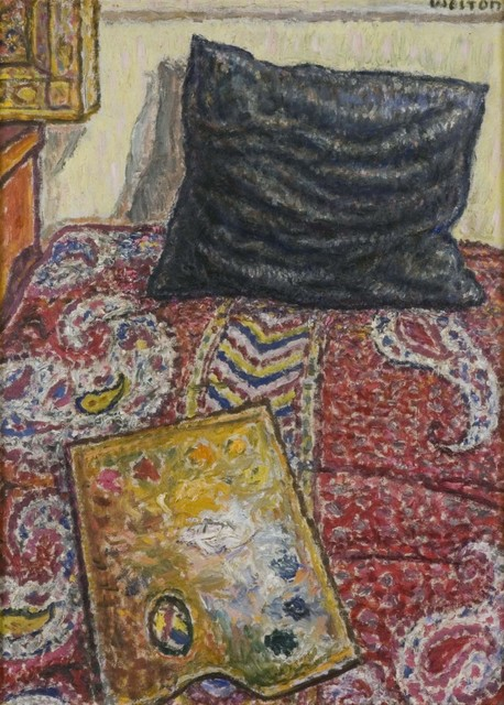 Harold Weston, 'Palette on Couch', ca. 1931-1932, Painting, Oil on canvas, Gerald Peters Gallery