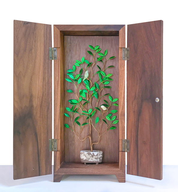 , 'Pure Enjoyment in a Planter – Tree and Bird 1,' 2018, Yiri Arts