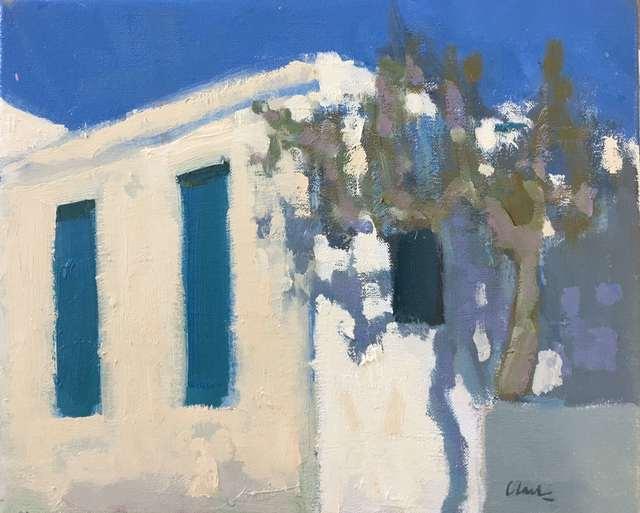 Michael Clark PAI RSW, 'Afternoon, Batsi, Greece', 2018, Lime Tree Gallery