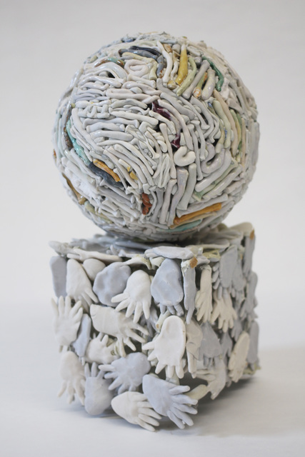 , 'Small Sphere on Foot Box,' 2015, Mark Moore Fine Art