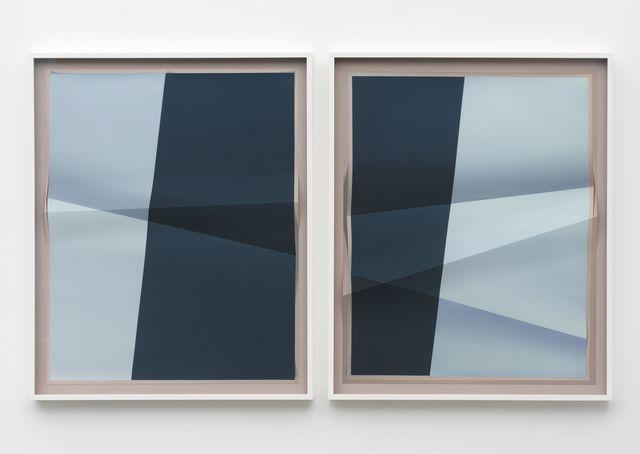 , 'Accumulator #11, 3 Colors #93C8DD, #213C6C, #C6C3CE,' 2017, Marianne Boesky Gallery