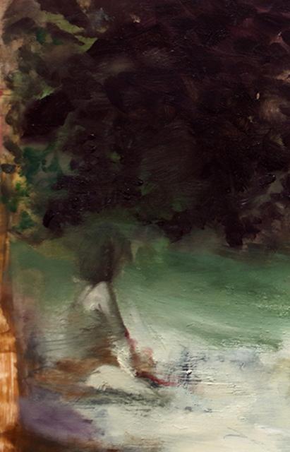 Joshua Flint, 'Flashback, Flashforward', 2020, Painting, Oil on Mylar mounted on wood, Garvey   Simon