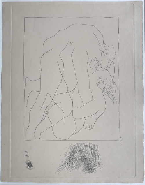 Pablo Picasso, 'Struggle between Tereus and his Sister-In-Law Philomela', 18.10.1930, Print, Original etching, Galerie Fetzer