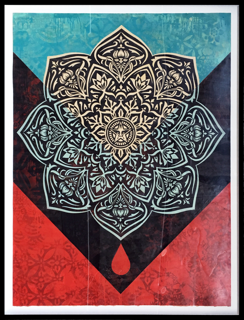 Shepard Fairey (OBEY), 'Blood and Oil Mandala (Blood Drop)', 2017, StolenSpace Gallery