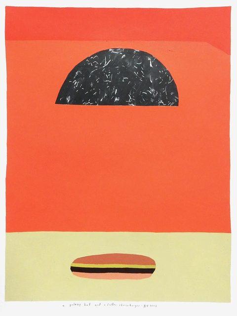 , 'a galaxy hat and a fallen cheeseburger,' 2017, Uprise Art