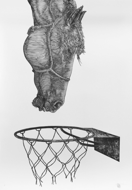 , 'HORSE AND BASKETBALL,' , saltfineart