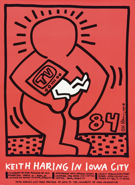 Keith Haring, 'Keith Haring in Iowa City.', 1984, Rennert's Gallery