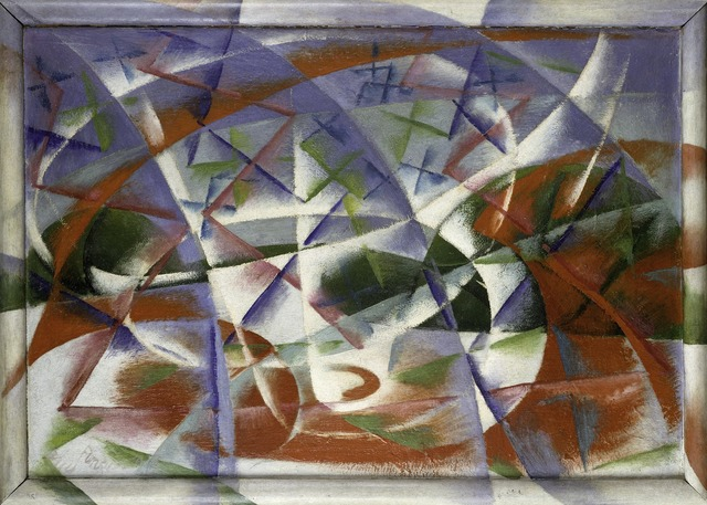 , 'Abstract Speed + Sound (Velocità astratta + rumore),' 1913-1914, Guggenheim Museum