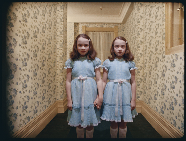, 'The Shining, directed by Stanley Kubrick (1980; GB/United States). The daughters of former caretaker Grady (Lisa and Louise Burns).,' 1980, Kunstforeningen GL STRAND