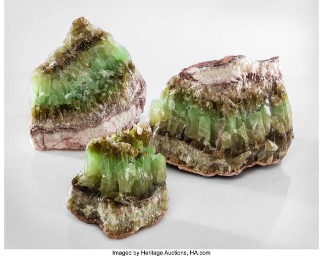 Unknown Artist, 'Trio of Green Calcite Specimens, Durango, Mexico', Heritage Auctions