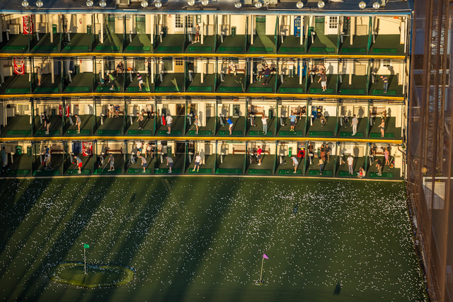 , 'The Golf Club, a driving range, and sunbathers at Chelsea Piers on the Hudson at West 18th Street. ,' 2014, Anastasia Photo