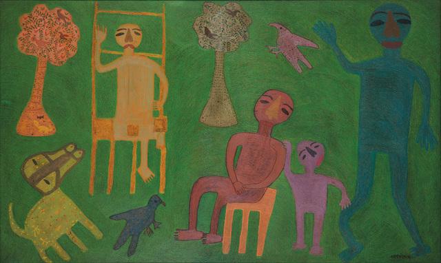 , 'Happy in the green field ,' 1982, DAG