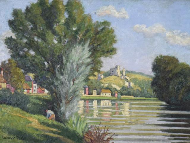 Ludovic-Rodo Pissarro, 'Chateau Gaillard, les Andelys', ca. 1930, Stern Pissarro