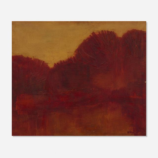 Rodolfo Aricò, 'Paesaggio', 1957, Wright