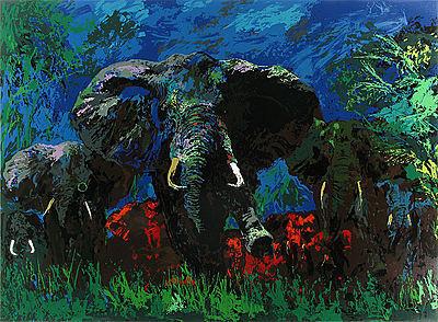 LeRoy Neiman, 'Elephant Stampede', 1976, David Parker Gallery