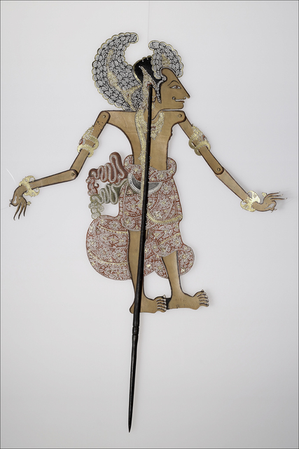 , 'Shadow puppet representing Ardjoena (Ardjuna) the most beautiful of the Pendawas,' Bought from I Wara, Negara, Bali, 1938. Based on a model from Klungkung, Bali, Bard Graduate Center Gallery