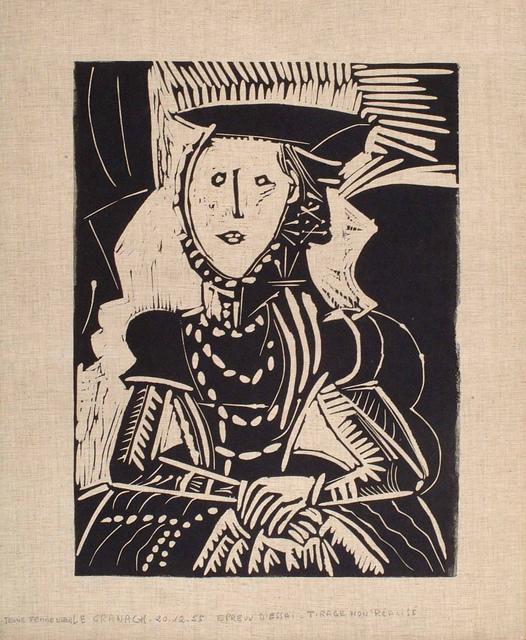 , 'Portrait de jeune Fille, d'après Cranach le Jeune. I,' 1958, Frederick Mulder