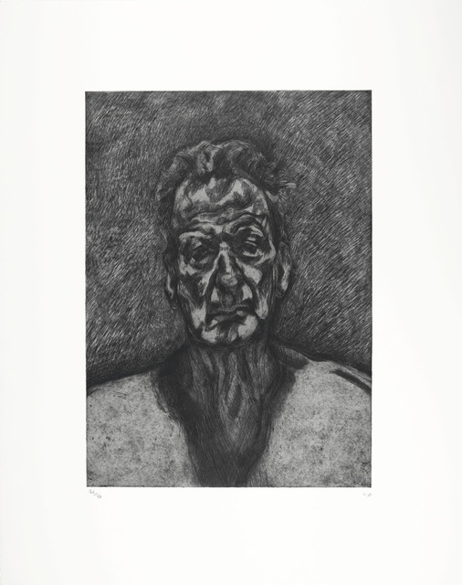 Lucian Freud, 'Self Portrait: Reflection', 1996, Print, Etching, on Somerset paper, Christie's