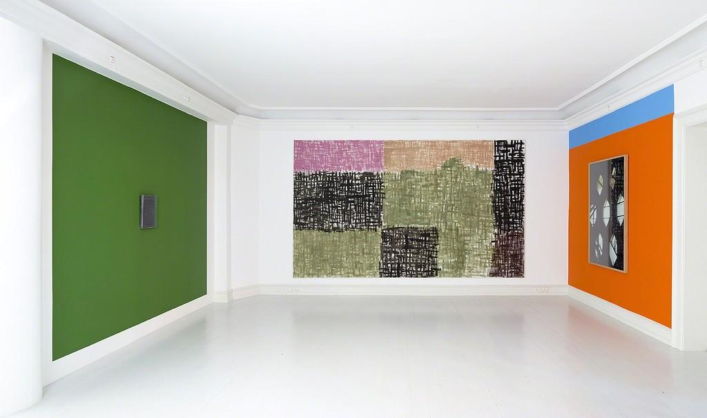 Günther Förg - Ubunut, install shot, Galerie Mikael Andersen, Copenhagen, 2014