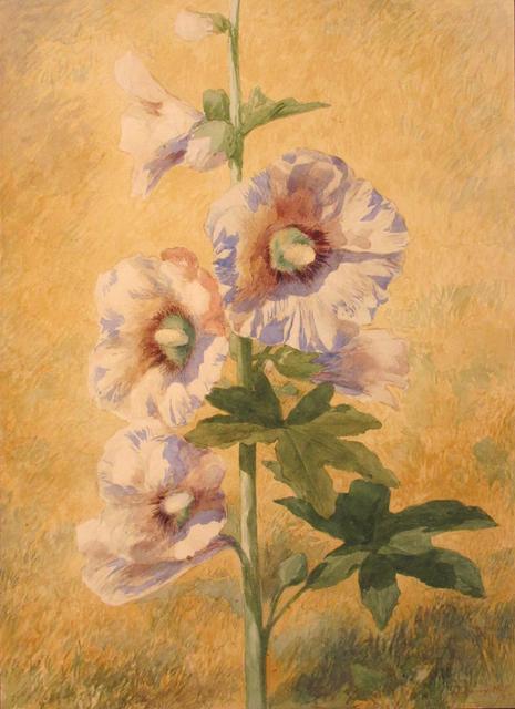 , 'Hollyhock,' 1873, Debra Force Fine Art