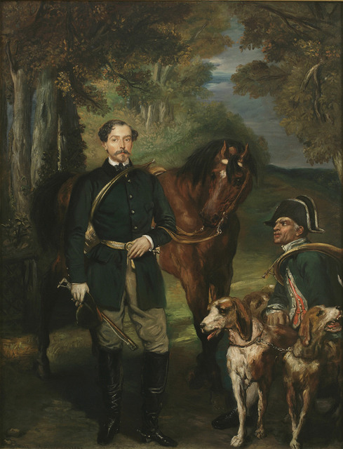 , 'Portrait of Comte Oscar de Ranchicourt Leaving for the Hunt,' 1854, Jack Kilgore & Co.
